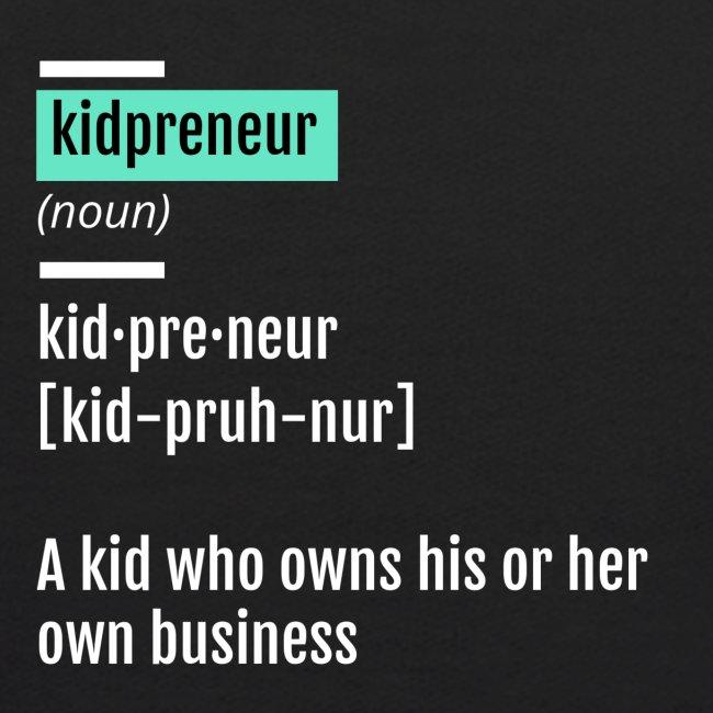 Kidpreneur Definition Logo