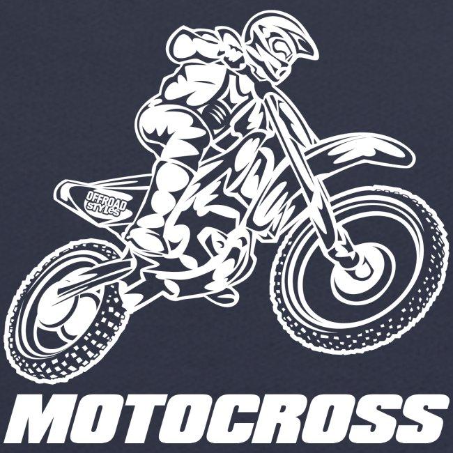 Motocross Logo White