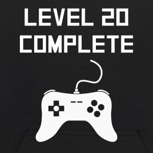 Level 20 Complete Video Games 20th Birthday - Kids' Hoodie