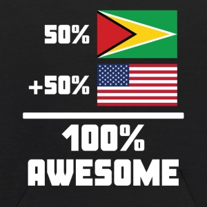50% Guyanese 50% American 100% Awesome Funny Flag - Kids' Hoodie