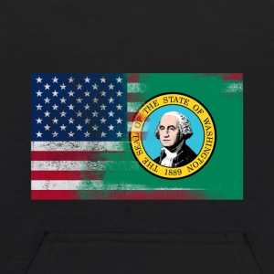 Washington American Flag Fusion - Kids' Hoodie