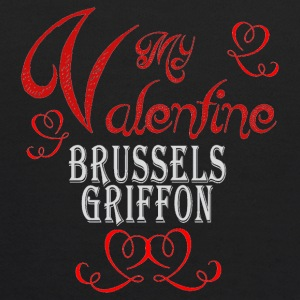 A romantic Valentine with my Brussels Griffon - Kids' Hoodie
