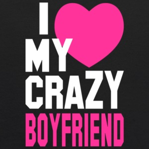 I Love My Crazy Boyfriend T Shirt - Kids' Hoodie