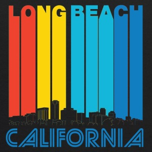 Retro Long Beach California Skyline - Kids' Hoodie