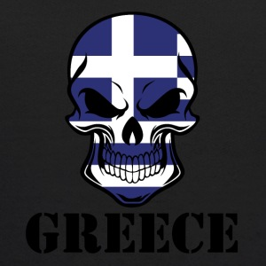 Greek Flag Skull Greece - Kids' Hoodie