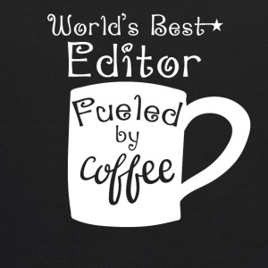 World's Best Editor Fueled By Coffee - Kids' Hoodie