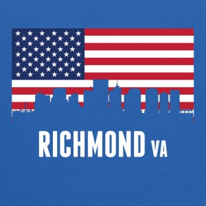 American Flag Richmond Skyline - Kids' Hoodie
