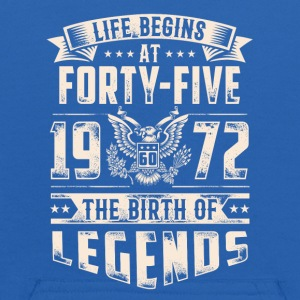 Life Begins At Forty Five Tshirt - Kids' Hoodie