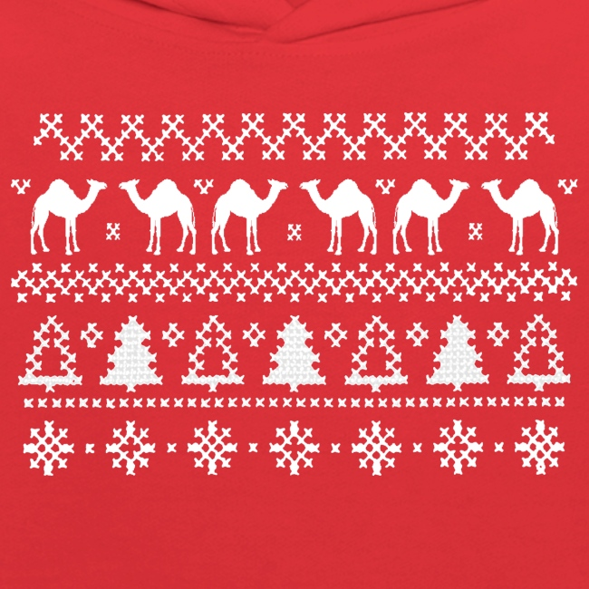Ugly Christmas Sweater Design.Hump Day Camel Ugly Christmas Sweater Kids Hoodie