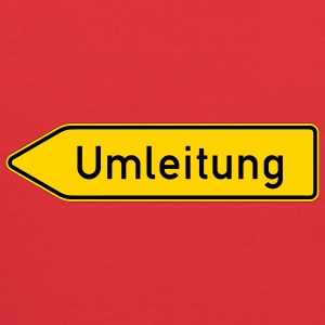 Umleitung Left - German Traffic Sign - Kids' Hoodie