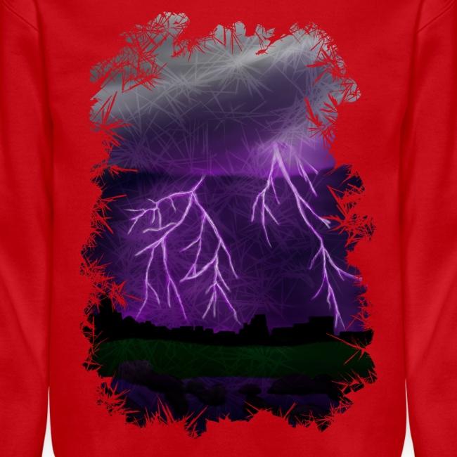 Purple Lightning Scene