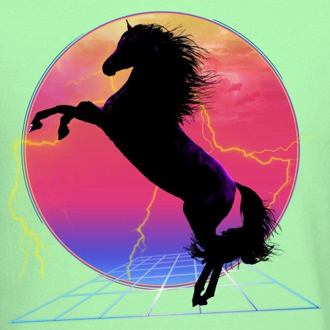 retro rearing horse