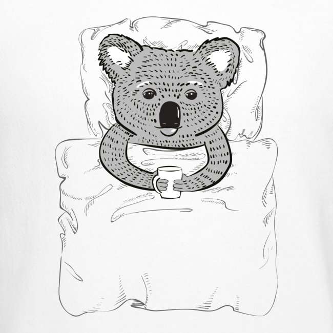 Print With Koala Lying In A Bed