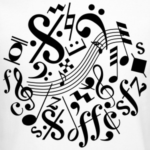 Music Notes and Signs - Crewneck Sweatshirt