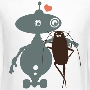 Cute robot cockroach friends falling in love - Crewneck Sweatshirt