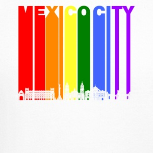Mexico City Skyline Rainbow LGBT Gay Pride - Crewneck Sweatshirt