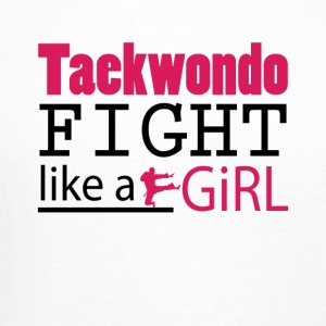 Taekwondo Fight Like A Girl Tee Shirt - Crewneck Sweatshirt