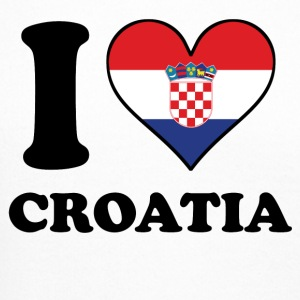 I Love Croatia Croatian Flag Heart - Crewneck Sweatshirt