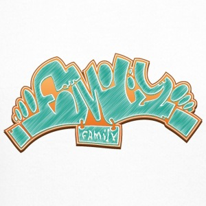 family_graffiti_green - Crewneck Sweatshirt