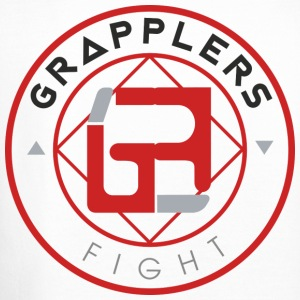 Light 001 grapplersfight LOGO Back - Crewneck Sweatshirt