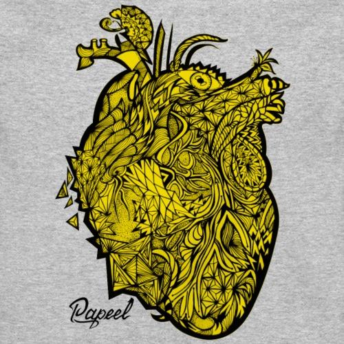 Yellow Skull - Papeel Arts - Unisex Fleece Zip Hoodie