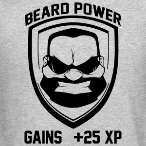 Beard power badge - Crewneck Sweatshirt