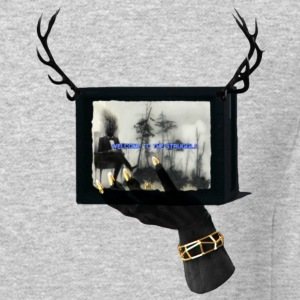 Welcome To The Struggle Man On TV With Antlers - Crewneck Sweatshirt
