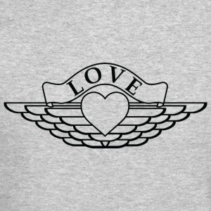 Love - Wings Design (Black Outline) - Crewneck Sweatshirt