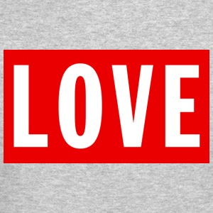 Love (Big/Red Border) - Crewneck Sweatshirt