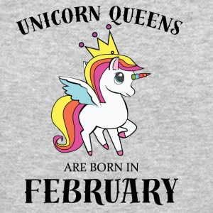 UNICORN QUEENS BORN IN FEBRUARY - Crewneck Sweatshirt