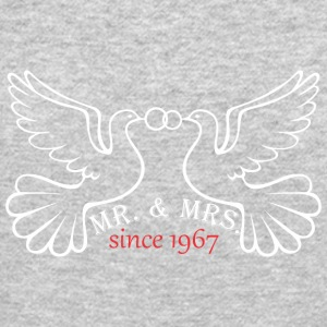 Mr And Mrs Since 1967 Married Marriage Engagement - Crewneck Sweatshirt