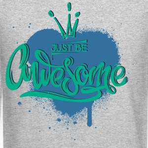 awesome-heart-crown - Crewneck Sweatshirt