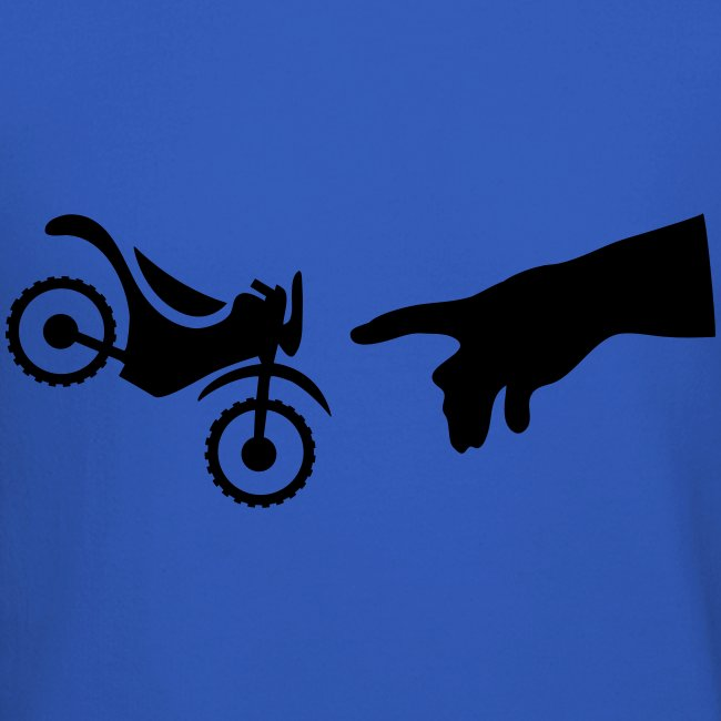 The hand of god brakes a motorcycle as an allegory