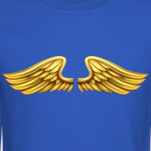 golden-angel-wings-angelic-wings - Crewneck Sweatshirt