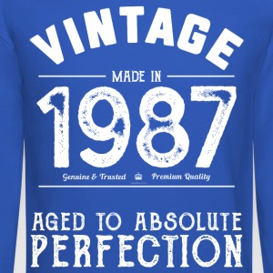 1987 Aged To Perfection 30th Birthday Present - Crewneck Sweatshirt