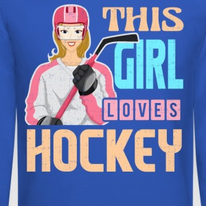 Funny, Unique Hockey Shirt for Girls and Women - Crewneck Sweatshirt