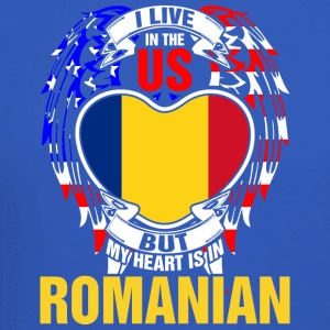 I Live In The Us But My Heart Is In Romanian - Crewneck Sweatshirt
