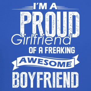 Proud Girlfriend Of A Awesome Boyfriend Shirt - Crewneck Sweatshirt