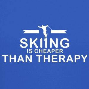 Skiing is cheaper than therapy - Crewneck Sweatshirt