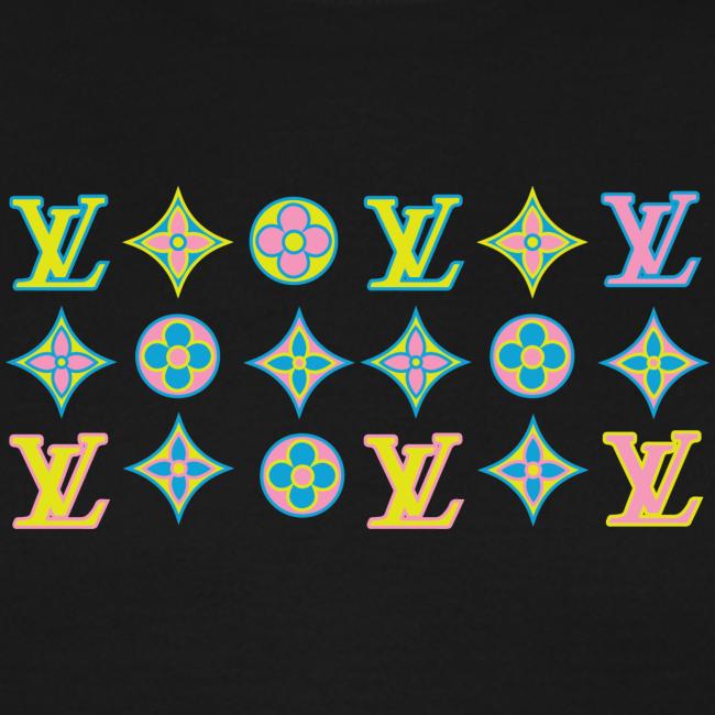 custom coloured LV pattern.