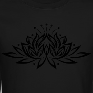 Large lotus flower, yoga, wellness. - Crewneck Sweatshirt
