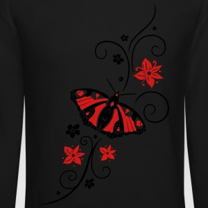 Big colorful butterfly with filigree tribal. - Crewneck Sweatshirt