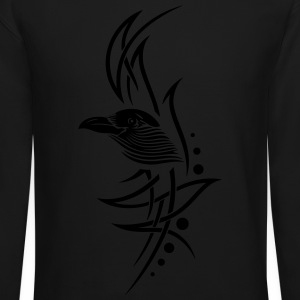 Tribal, tattoo with crows head. - Crewneck Sweatshirt
