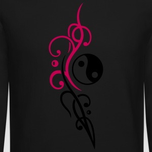 Yin & Yang symbol, Tribal and Tattoo Style. - Crewneck Sweatshirt