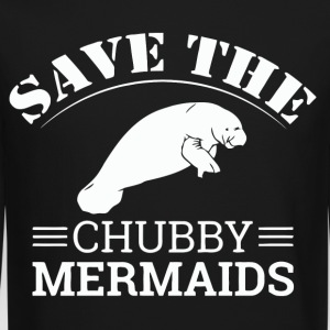 Save The Chubby Mermaids Manatees - Crewneck Sweatshirt