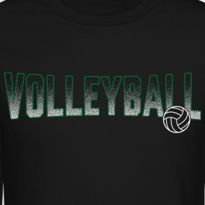 Volleyball Green Gradient Ball - Crewneck Sweatshirt