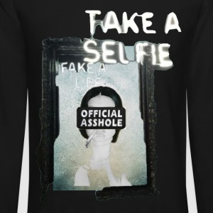 BORDERLESS TAKE A SELFIE FAKE A LIFE OA WITH WOMAN - Crewneck Sweatshirt