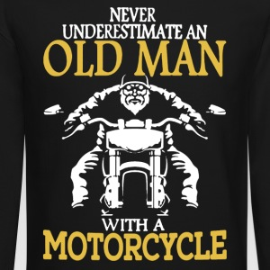 OLD MAN WITH A MOTORCYCLE SHIRT - Crewneck Sweatshirt