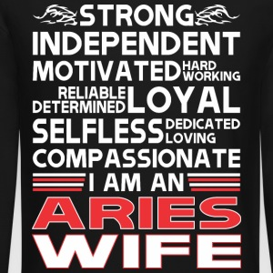 Strong Independent Motivates Aries Wife - Crewneck Sweatshirt