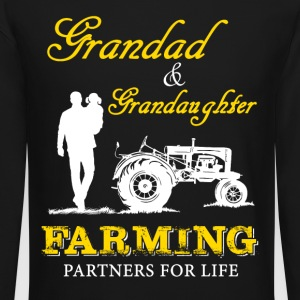 Granddad and granddaughter Farmer T Shirts - Crewneck Sweatshirt